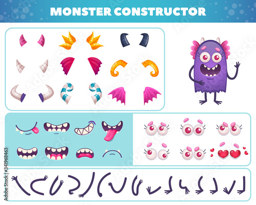 Cartoon Monster Constructor Set фототапет