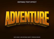 Adventure Text Effect Abstract Background Template With Bold Style Use For Logo And Banner Headline