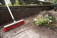 Garden Broom Brush With A Pile...