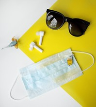 Flatlay With Glasses, Glass Fi...