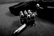 Close-up Of Bullets And Handgun