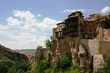Hanging Houses Of Cuenca Against Cloudy Sky During Sunny Day