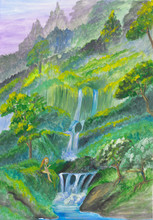 Gouache Painting With Fantasy ...