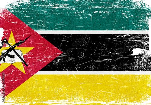 Photo Mozambique, Mozambique Flag, Mozambique Flag Background, Mozambique Grunge Flag