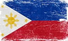 Philippines, Philippines Flag, Philippines Flag Background, Philippines Grunge Flag Background, Philippines Vintage Flag Background, Banner, Wallpaper,