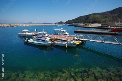 Cuadros en Lienzo 桟橋とボートのある港