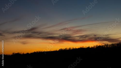 Sunset in Appalachia Canvas Print