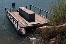 Old Rusty Floating Platform Wi...