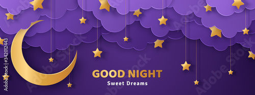 Obraz na plátně Good night and sweet dreams banner