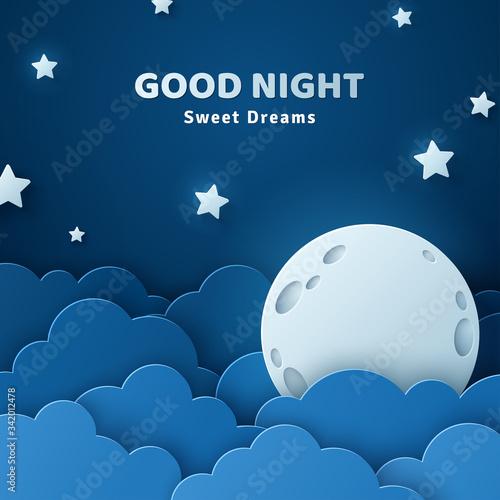 Fotografia Good night and sweet dreams banner