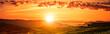 Sonnenaufgang über Weinbergen in Navarra
