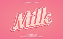Editable Text Effect, Cute Pink Text Style
