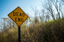 Dead End Sign On Trail