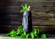 Tiki Cocktail With Fresh Mint ...