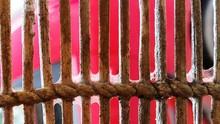 Full Frame Shot Of Railing On Sunny Day