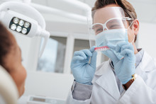Selective Focus Of Dentist In ...