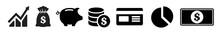 Money Vector Icons Set. Money ...