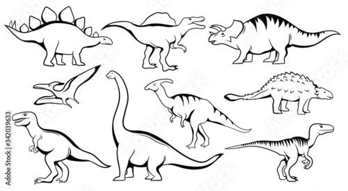 Fotografie, Tablou Set of dinosaur