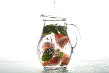 Glass Carafe With Water Grapef...