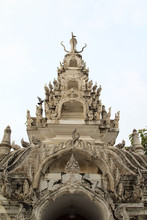 The Chedi In Wat Phra That Chohae In Phrae Province, Northern Thailand.