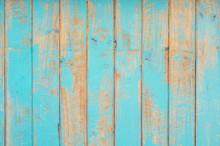 Full Frame Shot Of Old Blue Plank
