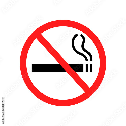 No smoking sign isolated on white Canvas Print