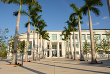 HOMESTEAD, FLORIDA, USA - APRIL 29, 2018: View Of City Hall