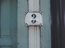 Close-up Of Number 3 On Door