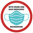 canvas print picture - Sign Icon Graphic., Logo, Aufkleber, Mund und Nase Bedecken . area print sticker covid-19 virus infection protection picture stop selfisolation stay safe zone signage symbol
