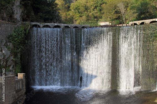 A dam built by the monks of the new Athos monastery. Wallpaper Mural