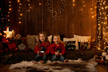Adorable Little Girl And Boy S...