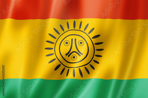 Photo Taino people ethnic flag, South America