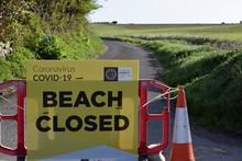 Beach Closed Sign COVID19