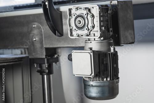 Obraz na plátně Worm motor, electric motors, induction motor and equipment for bottling lines, industrial equipment for factories