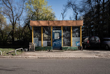 Abandoned Street Kiosk