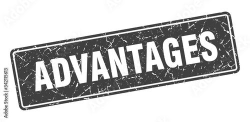 Photo advantages stamp. advantages vintage black label. Sign