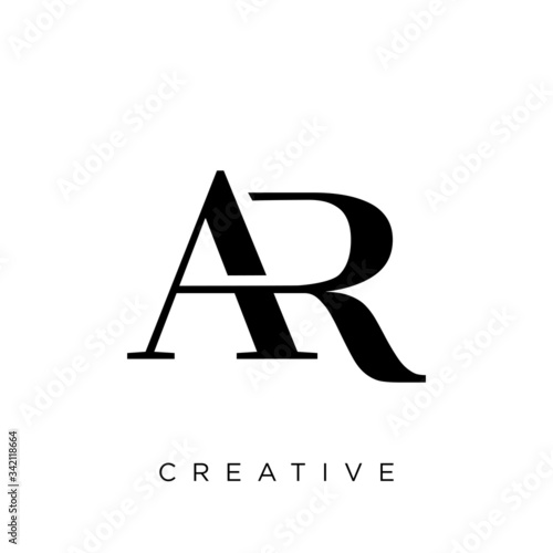 Photo ar logo design vector icon