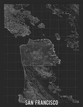 City Map Of San Francisco. Vec...