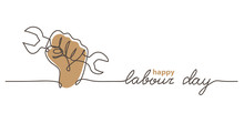 Happy Labour Day Simple Vector...