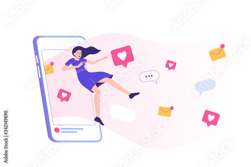 Social media addiction Canvas Print