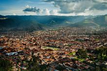 High Angle View Of Cusco, Peru...