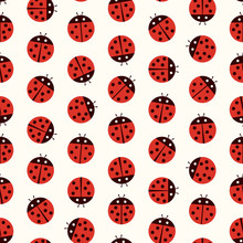 Ladybug Seamless Pattern - Pol...