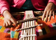 Womans Hands Weaving, Chaullac...
