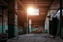 Old Broken Empty Abandoned Ind...