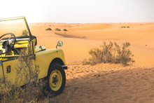 Land Rover In The Desert Of Du...