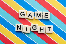 Game Night Letter Tiles On Col...