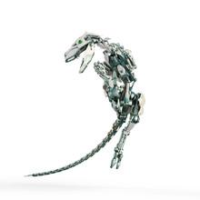 Dino Raptor Robot Is Jumping