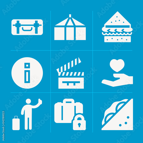 Photo Filled holmes 9 vector icons set