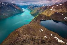Besseggen Ridge Fjord, Norway