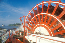 A Steamboat Paddle Wheel On Th...